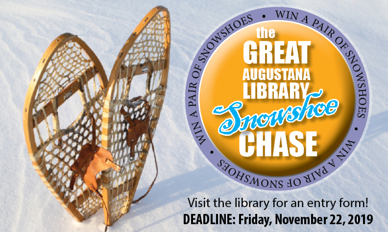 visit library to enter great snowshoe chase