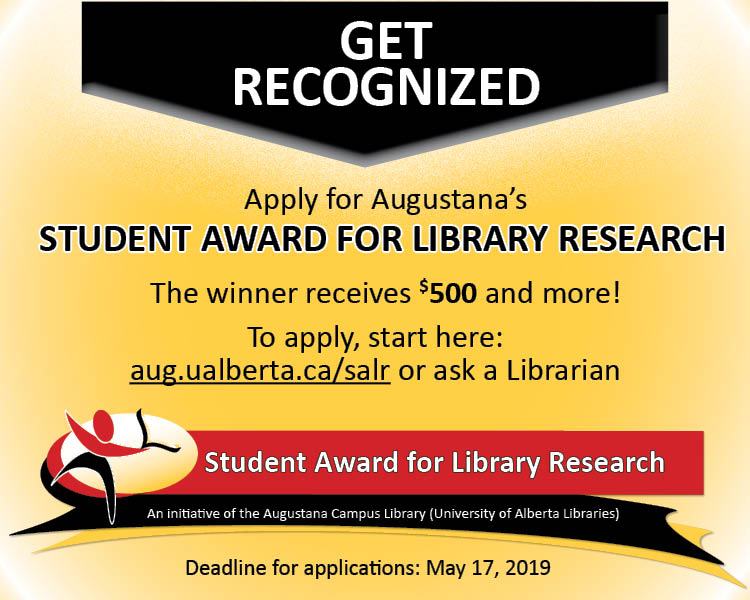 student award for library research winner 2018