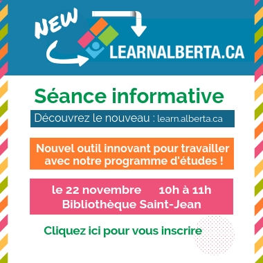 Session d'information sur le nouveau Learn Alberta
