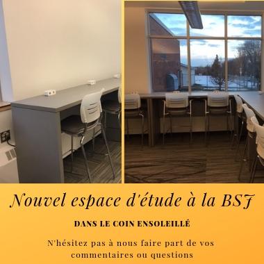 Nouvel espace d'étude à la BSJ